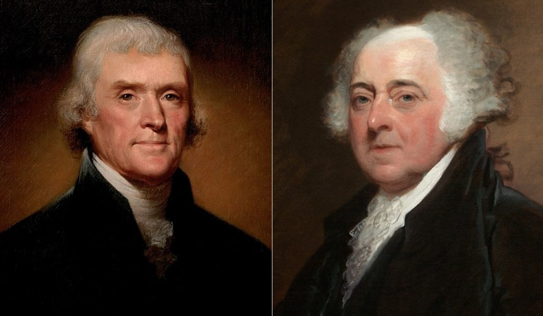 John Adams og Thomas Jefferson